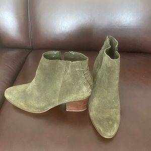Green Aldo Booties size 7.5